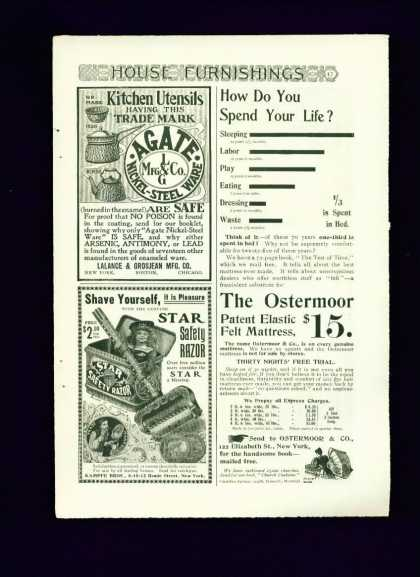 Star Safety Razor Ad C Cute 1/4 Page (1900)