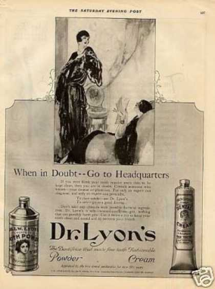 Dr. Lyons Tooth Powder (1923)
