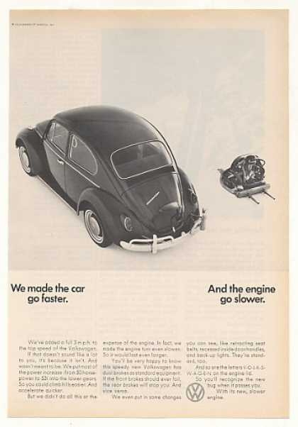VW Volkswagen Beetle Bug Faster Engine Slower (1966)