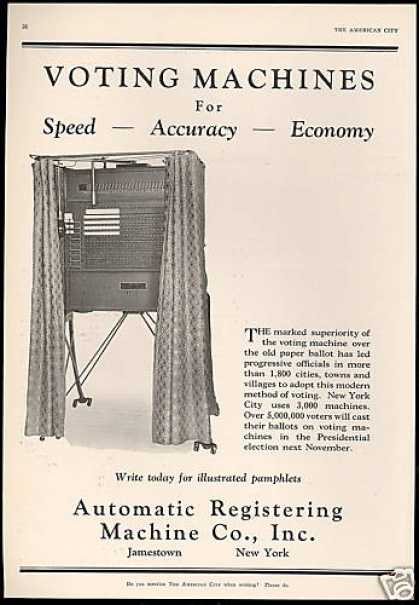 Voting Machine Automatic Registering Co (1928)
