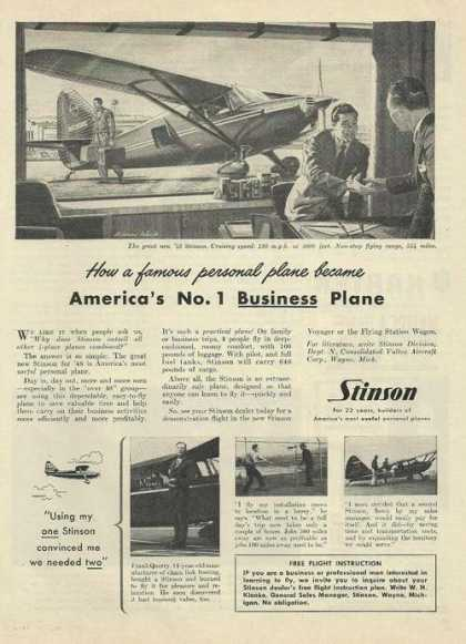 Stinson Business Airplane (1948)