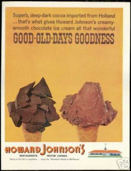 Howard Johnson's Restaurant Chocolate Ice Cream (1964)