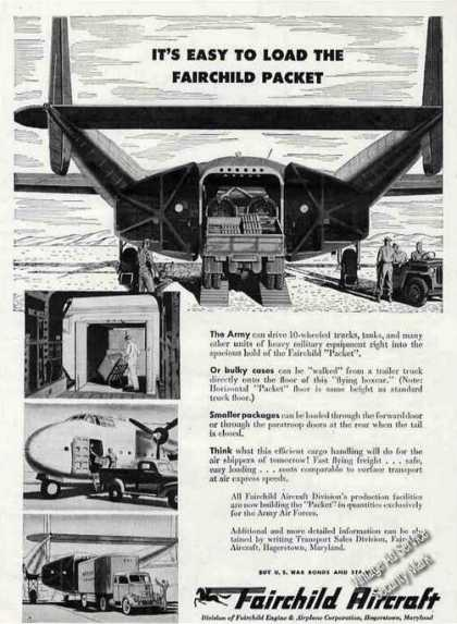 "Fairchild Packet ""Flying Boxcar- Easy To Load"" (1945)"
