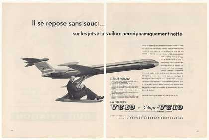 BAC Vickers Super VC 10 Aircraft 2-Page French (1960)