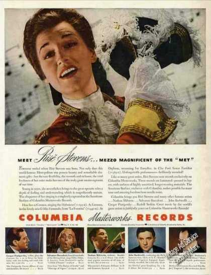Rise Stevens Photo Opera Columbia Records (1943)