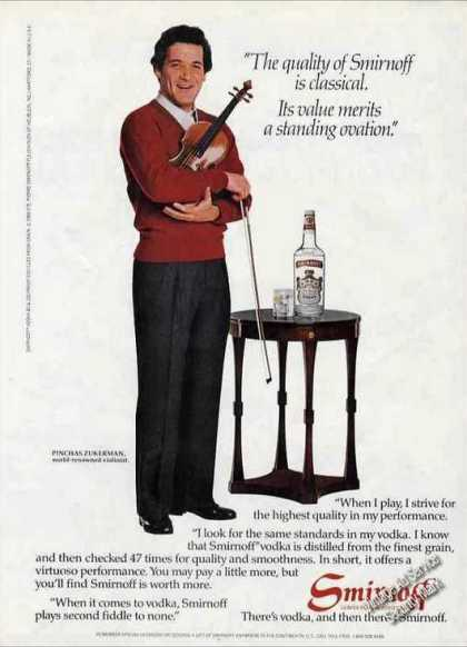 Pinchas Zukerman Photo Smirnoff Vodka (1984)