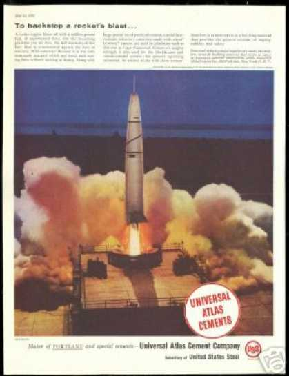 Cape Canaveral Rocket Launch UAT Cement (1958)