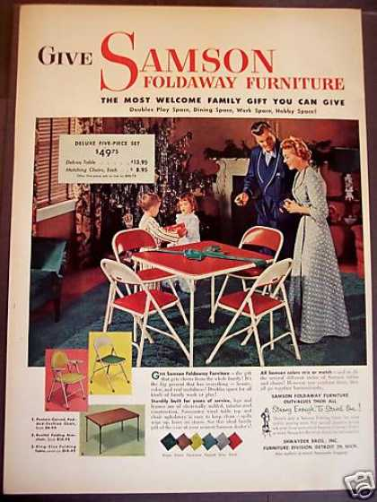 Samson Foldaway Furniture X-mas (1952)