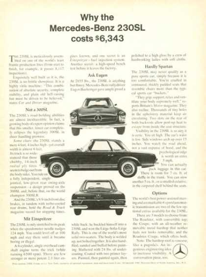 Mercedes Benz 230 Sl $6,343 (1966)