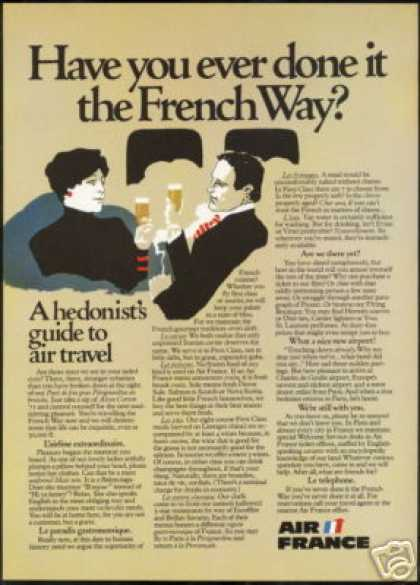 The French Way Air France Airlines Travel (1975)