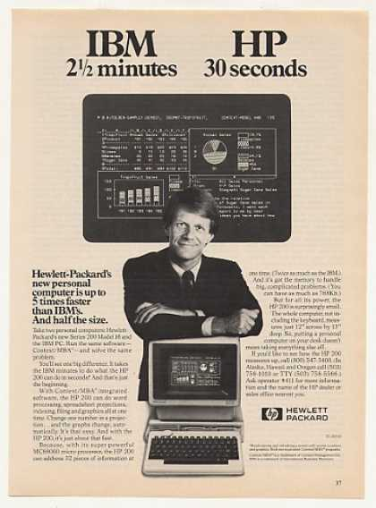 Hewlett-Packard Series 200 16 Computer vs IBM (1983)