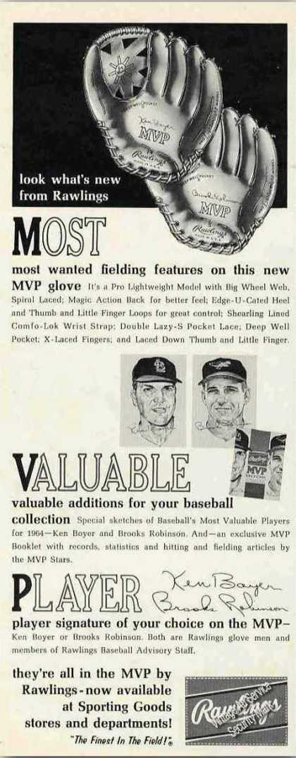 Rawlings Mvp Baseball Glove Collectible (1965)
