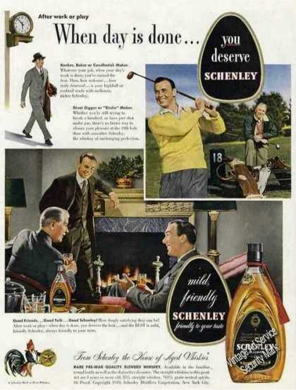 When Day Is Done...you Deserve Schenley Golf (1949)