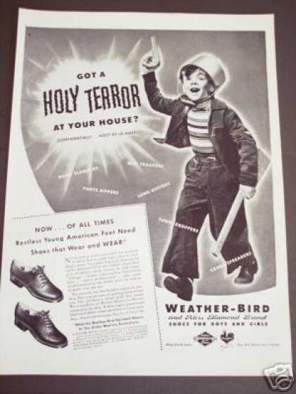 Weather Bird Shoes Little Boy Terror Original (1943)