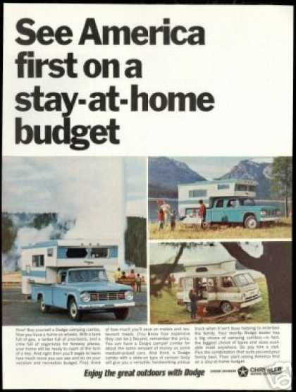 Dodge Campers 2 dr 4 dr Truck Van Photo (1966)