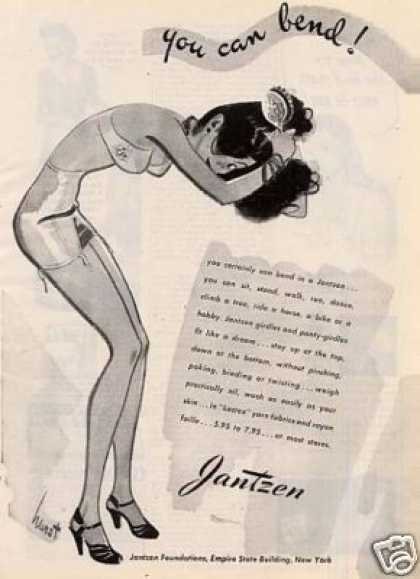 "Jantzen Girdle Ad ""You Can Bend... (1945)"