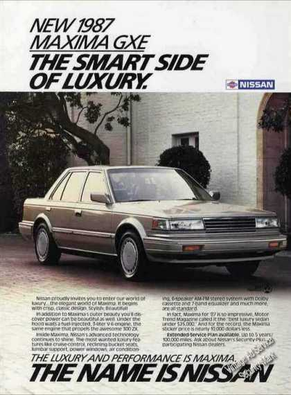 "Nissan Maxima Gxe ""Smart Side of Luxury"" Car (1987)"