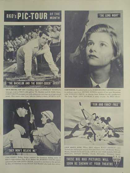 Movies RKO Pictures. The Bachelor and the Bobby Soxer, The Long Night, They Won't Believe me, Fun and Fancy Free (1947)
