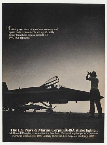 Northrop F/A-18A Strike Fighter Aircraft Photo (1982)