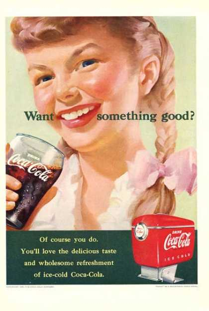 Coca Cola Coke Young Girl Soda Fountain (1951)