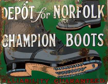 Norfolk Boots Sign