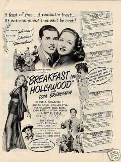 "Movie Ad ""Breakfast Hollywood"" (1946)"