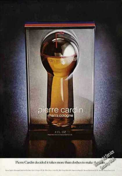 Pierre Cardin Man's Cologne Collectible (1972)