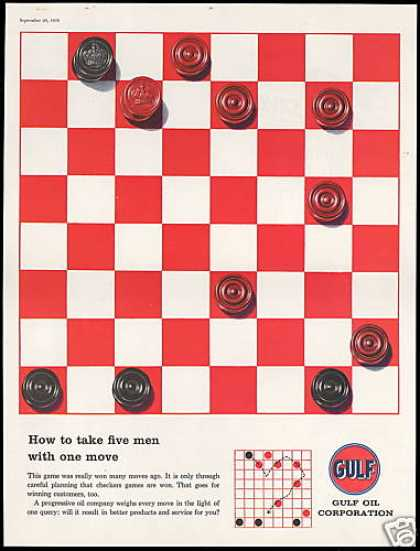 Gulf Oil Corporation Checkers Board Game (1958)