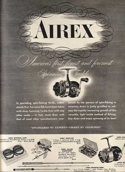 Airex's Spinning Tackle (1952)