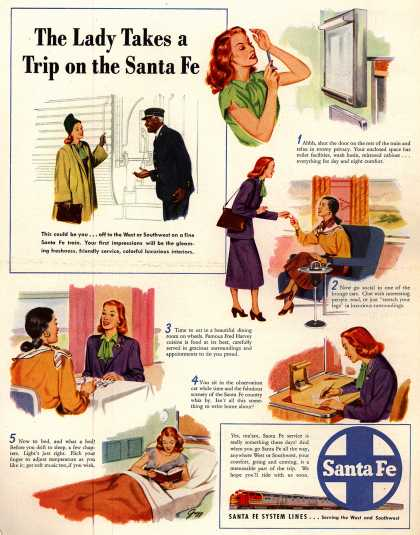 Santa Fe System Lines – The Lady Takes a Trip on the Santa Fe (1948)