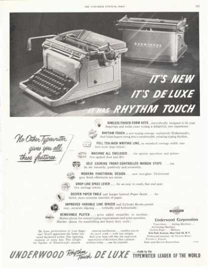 Underwood Deluxe Typewriter Print (1949)