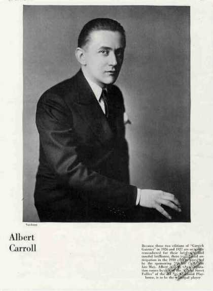 "Albert Carroll of ""Grand Street Follies"" Feature (1930)"