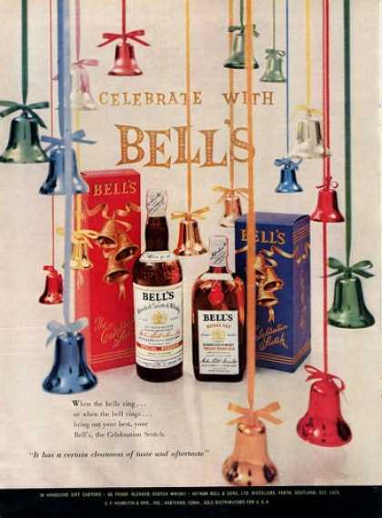 Silver Bells Scotch Whisky Bottle (1954)