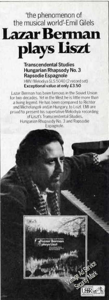Lazar Berman Plays Liszt Uk Music (1976)