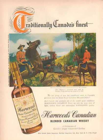 Harwood's Whiskey – 1885 Canadian Pacific Railway (1948)
