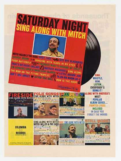 Mitch Miller Columbia Records Albums Promo (1960)