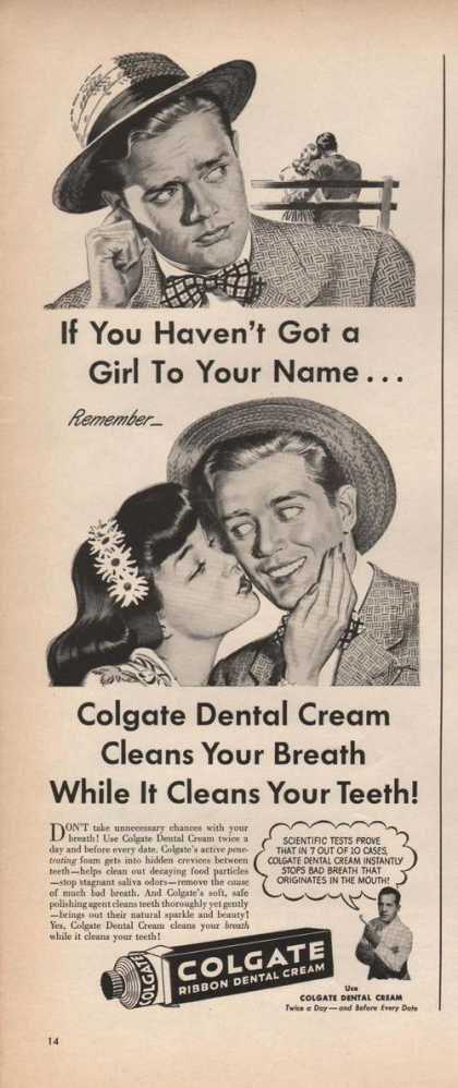Colgate Dental Cream Cleans Teeth (1946)