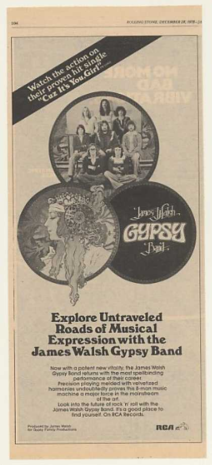 James Walsh Gypsy Band RCA Records (1979)
