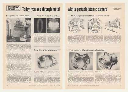 Gamma-Ray Portable Atomic Camera 2-P Photo Article (1956)