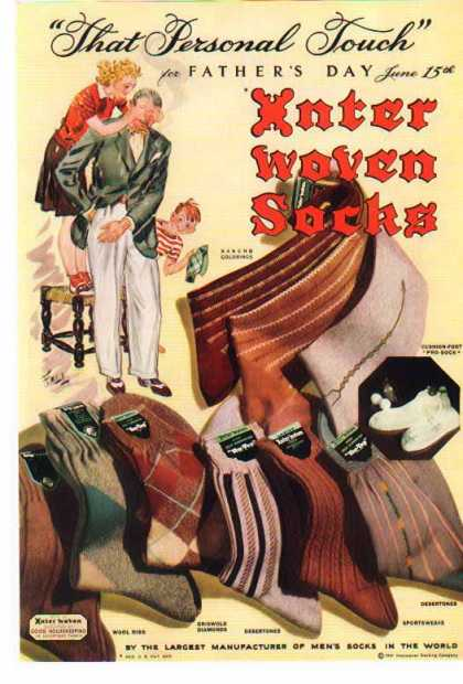 Inter Woven Socks – Father's Day (1941)