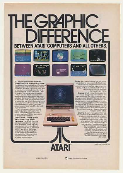 '82 Atari 800 Home Computer Graphic Difference (1982)