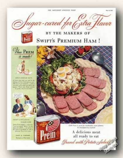 Prem Meat By Swifts Collectible (1941)