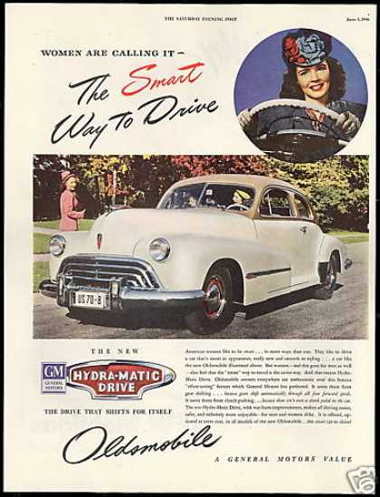 Oldsmobile Car Hydra Matic Drive Shifts Itself (1946)