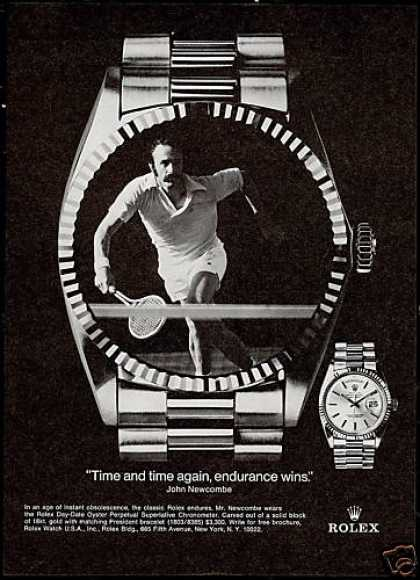 John Newcombe Photo Tennis Rolex Day Date Watch (1975)