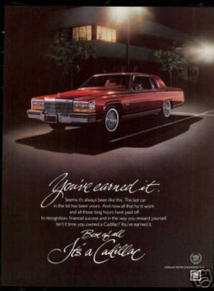 Cadillac 2Dr Car Vintage Evening Photo (1982)