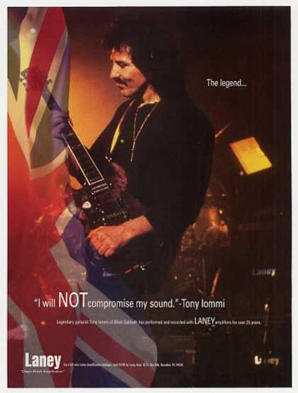 Black Sabbath Tony Iommi Laney Amps Photo (1997)