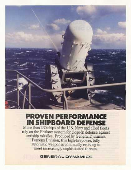 General Dynamics Phalanx Missile Defense System (1986)