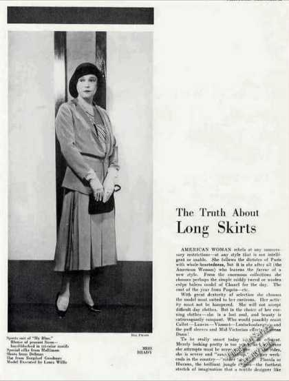 "Maybelle Manning Fashion Article ""Long Skirts"" (1930)"