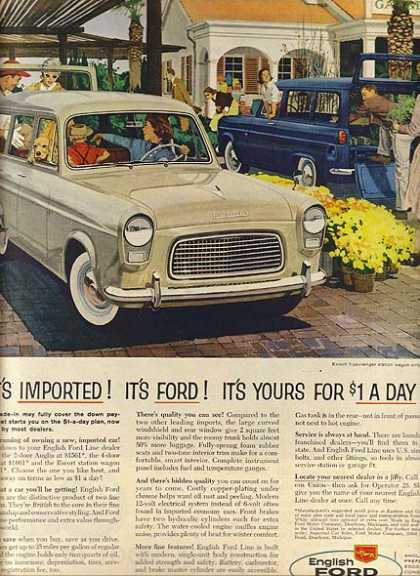 English Ford's Escort 5-Passenger Station Wagon (1959)
