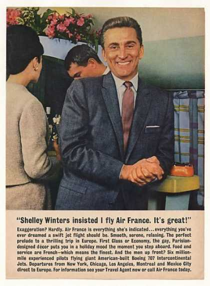Kirk Douglas Air France Airlines Photo (1961)